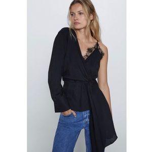 NWT Zara Asymmetric Camisole Top
